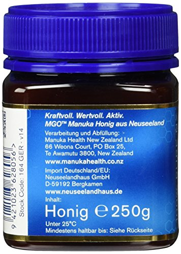 Manuka Health Aktiver - Honig MGO 250 plus - Original, 1er Pack (1 x 250 g) - 4