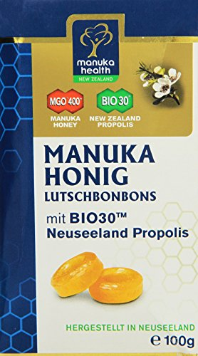 Manuka Health MGO 400 plus Propolis Lutschbonbons, 1er Pack (1 x 100g) - 1