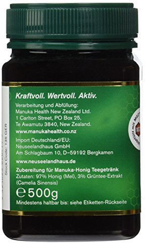 Manuka Health Teegetränk - Honig mit Grüntee, 1er Pack (1 x 500 g) - 3