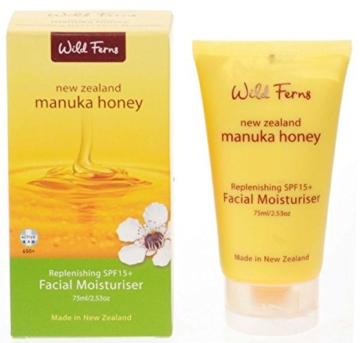 Wild Ferns New Zealand Manuka Honey LSF 15 Gesicht-Feuchtigkeitspflege 75ml - 1
